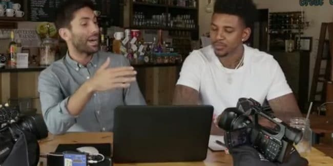 Nick Young is Nev's co-host this week on Catfish The TV Show. Pic credit: MTV