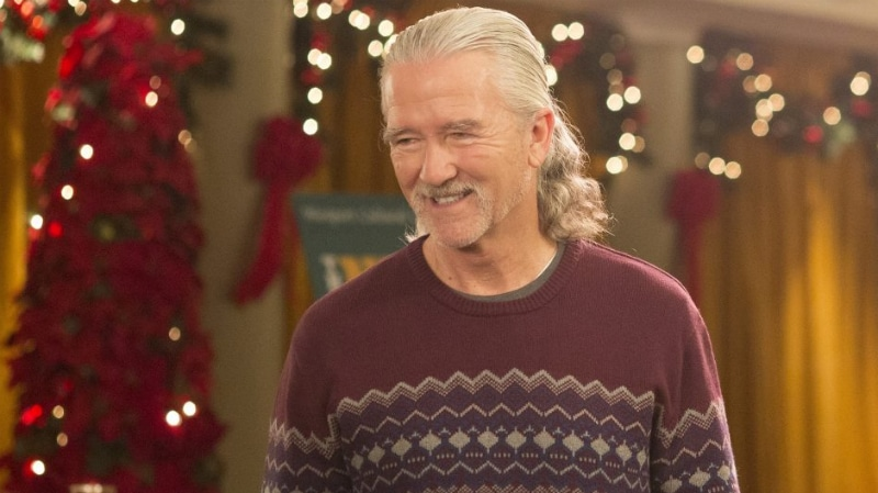 Patrick Duffy played Katie's ponytailed father on American Housewife. Pic credit: ABC