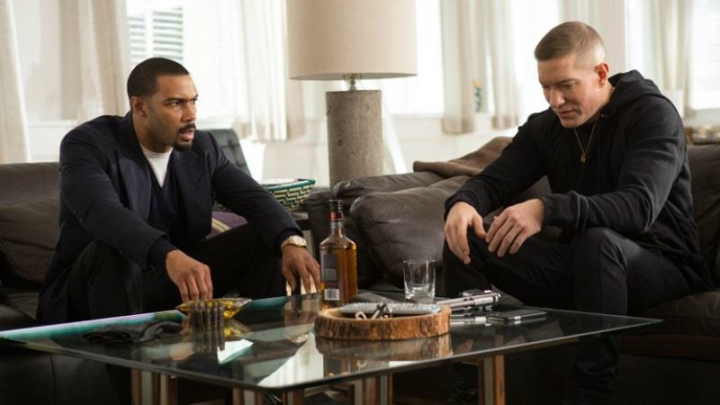 Ghost (Omari Hardwick) and Tommy (Joseph Sikora) on Power on Starz