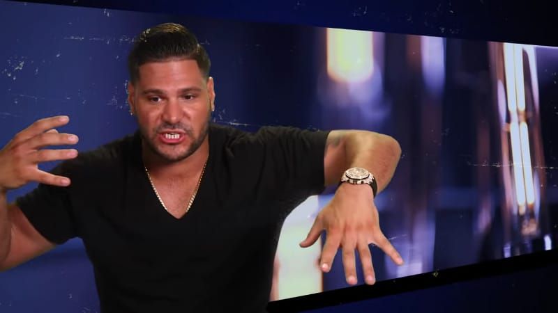 Ronnie Ortiz Magro describes the Jersey Shore fight. Pic credit: MTV