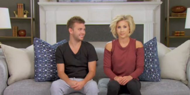 Chase and Savannah Chrisley in a Chrisley Knows Best confessional