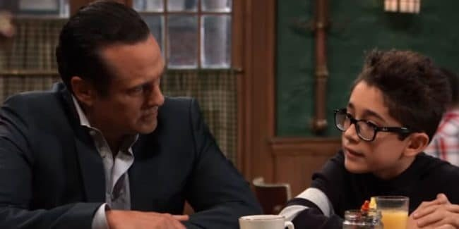Maurice Benard and Nicolas Bechtel as Sonny and Spencer on General Hospital