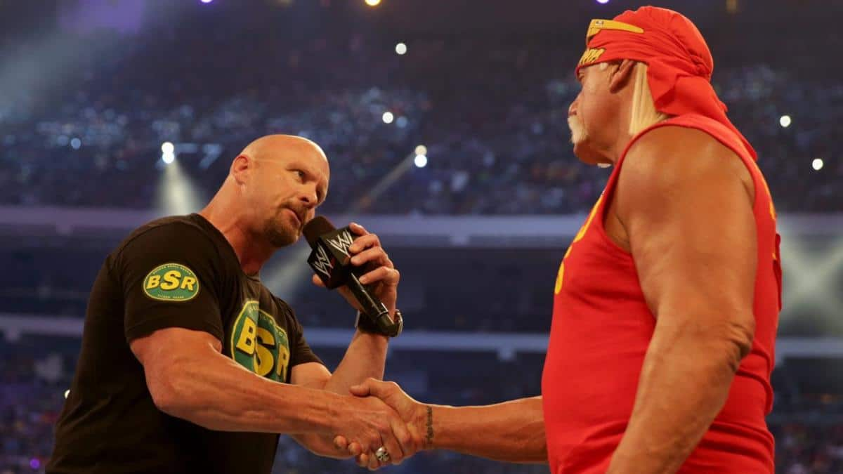 Steve Austin and Hulk Hogan, two of the best WWE wrestlers of all time