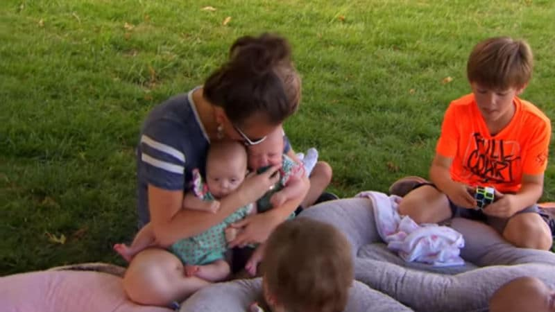 Courtney Waldrop and some of her nine children from Sweet Home Sextuplets