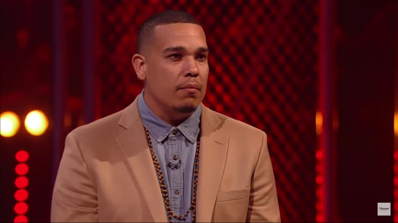 Teej Poole faces the judges on the Ink Master Season 11 finale. Pic credit: Paramount