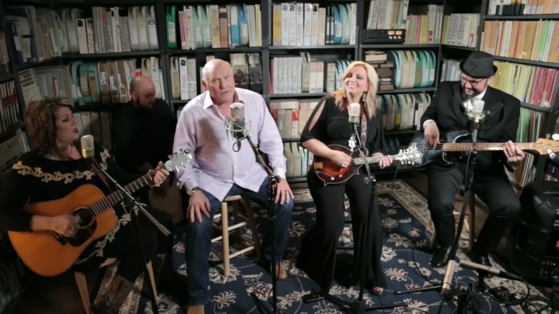 Terry Bradshaw and The Isaacs have been nominated for a Gospel Grammy. Pic credit: Paste/YouTube