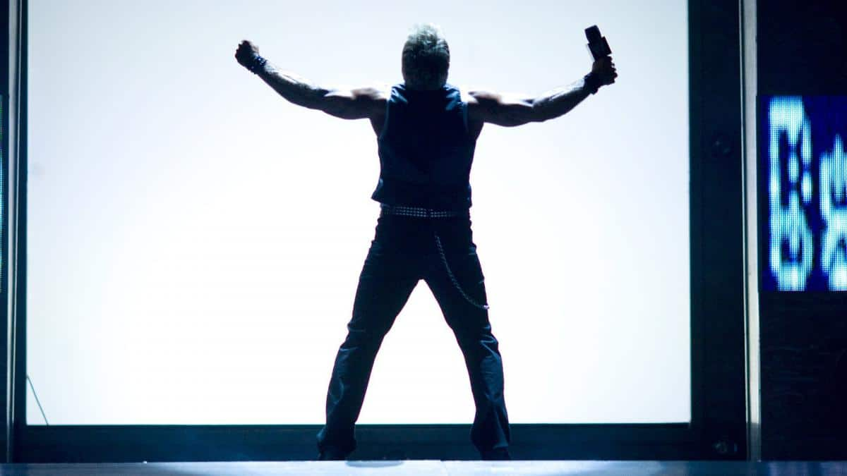 Chris Jericho entertains the WWE crowd