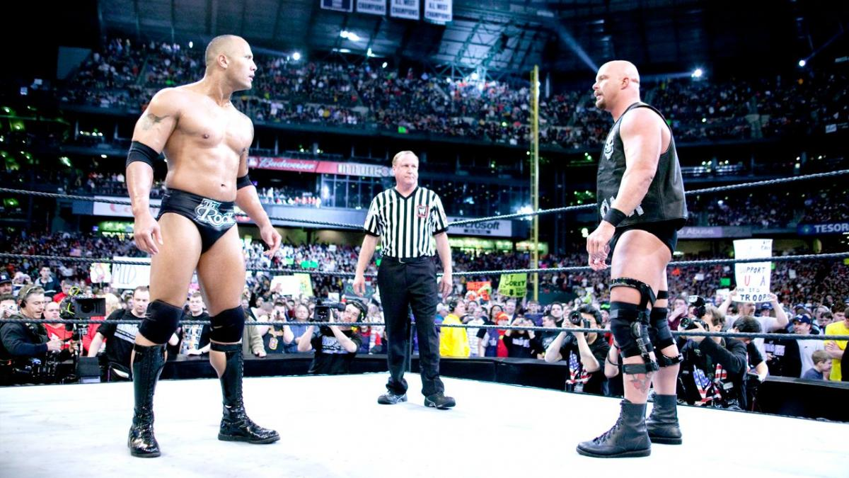 Stone Cold Steve Austin took on The Rock in the WWE