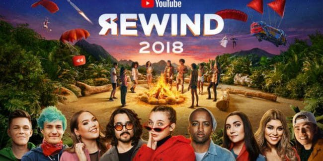 The YouTube Rewind 2018 hasn't been too popular among viewers. Pic credit: YouTube