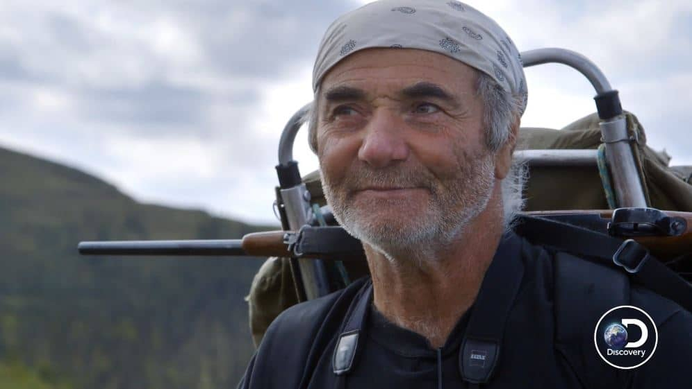 Heimo Korth is taking us on a nomadic walk as he explains that ancient people also hunted where he does now. Pic credit: Discovery