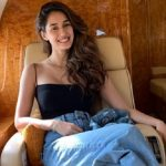 Disha Patani on a jet