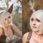 Jessica nigri cosplay rudolph the reindeer