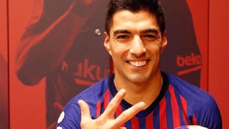 Luis Suarez smiling