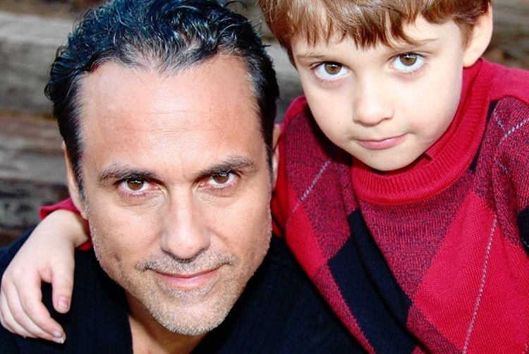 Maurice Benard from General Hospital and his son
