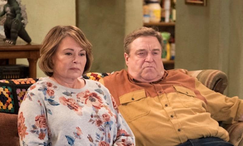 Roseanne Barr with John Goodman on the Roseanne revival