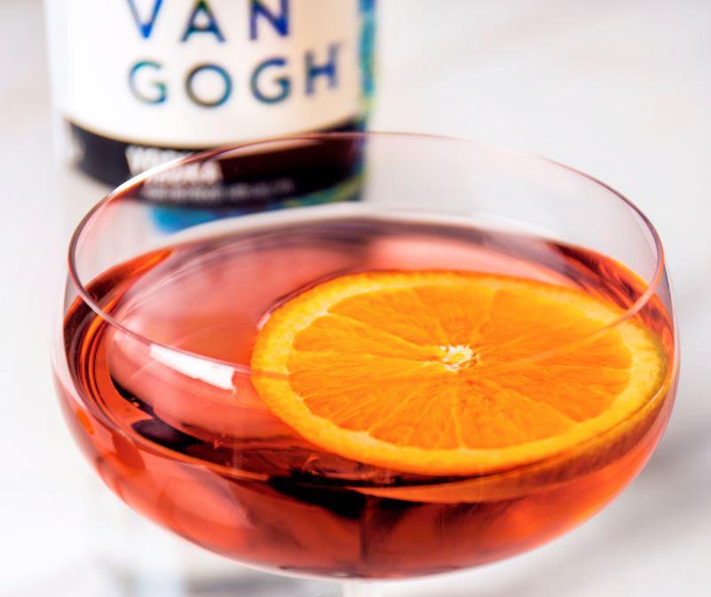 A lighter cocktail with a citrus pop. Pic credit: Van Gogh Vodka