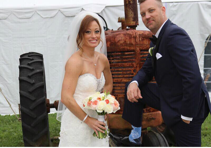 Stephanie Sersen and AJ Voelmiller on Married at First Sight. Pic credit: Terrance Harrison/Lifetime