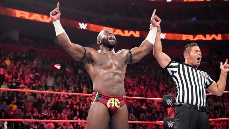 Apollo Crews on WWE Monday Night Raw