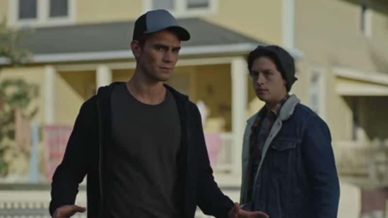 KJ Apa and Cole Sprouse as Archie and Jughead on Riverdale