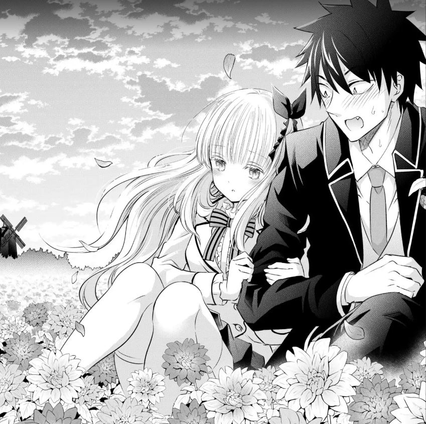 The secret lovers finally have time alone in a field of flowers... but only after having knocked everyone else unconscious so they have their privacy. Pic credit: Yosuke Kaneda