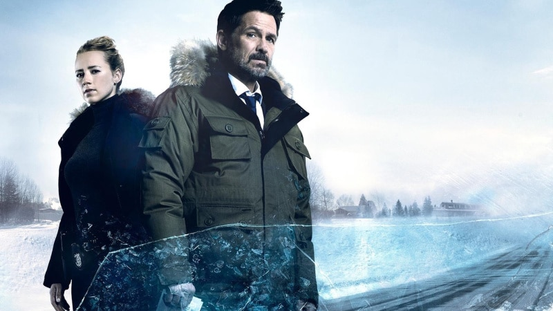 John Cardinal, played by Billy Campbell, and Lise Delorme, played by Karine Vanasse in Cardinal