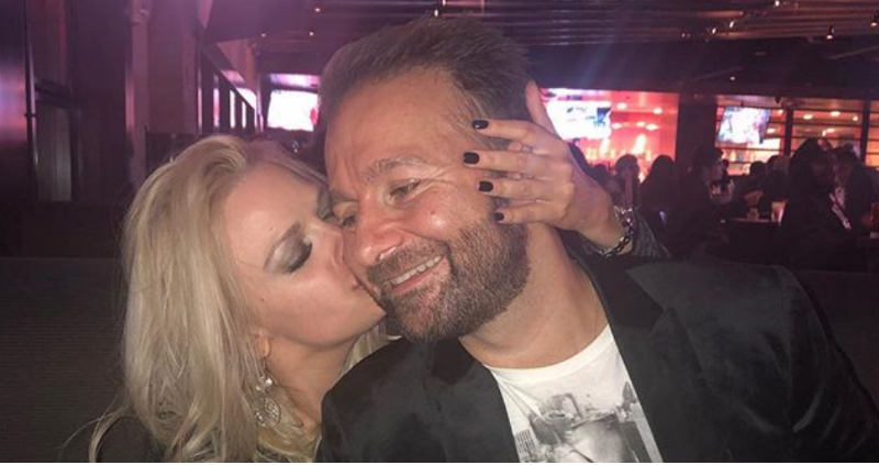 Daniel Negreanu and his fiance Amanda Leatherman before the engagement. Pic credit: @dnegspoker/Instagram