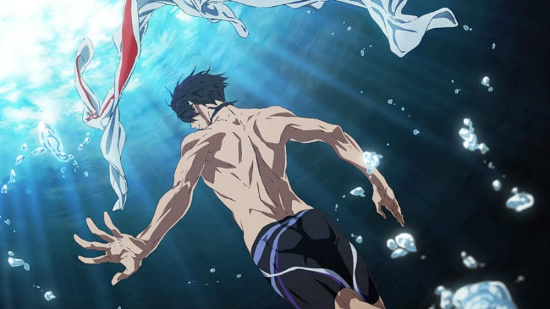 The Free! 2020 movie does not have a title yet but it's likely to be related to the Olympics somehow. Pic credit: Kyoto Animation