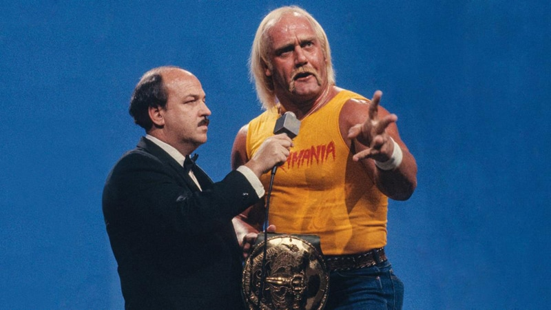 Hulk Hogan and Mean Gene Okerlund in the WWE