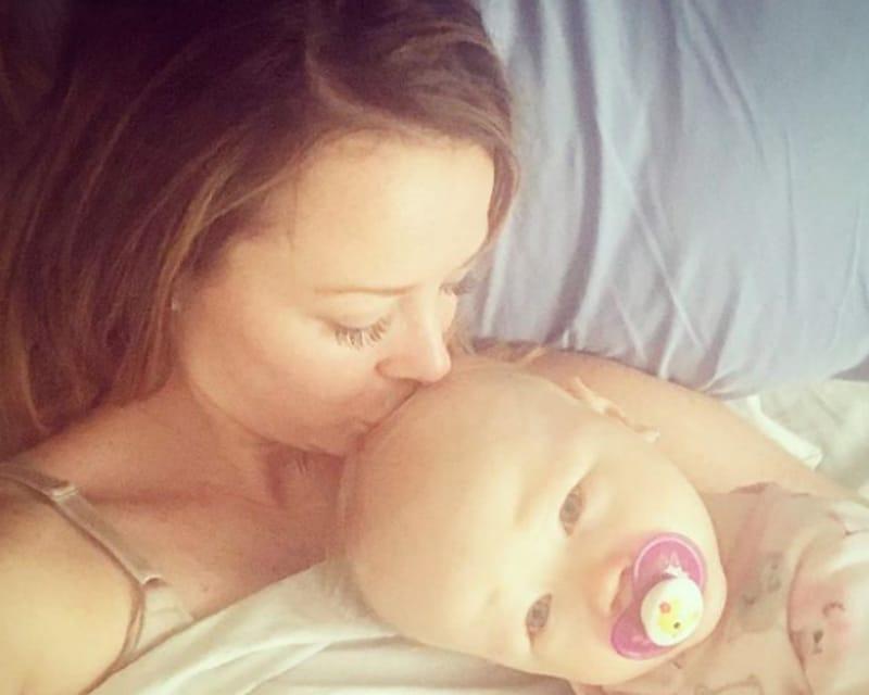 Jamie Otis and baby Grace on Instagram