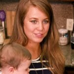 Jana Duggar holding her nephew while on Counting On