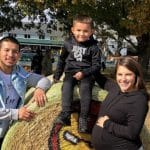 Lauren Comeau spending time with her boyfriend and his son.