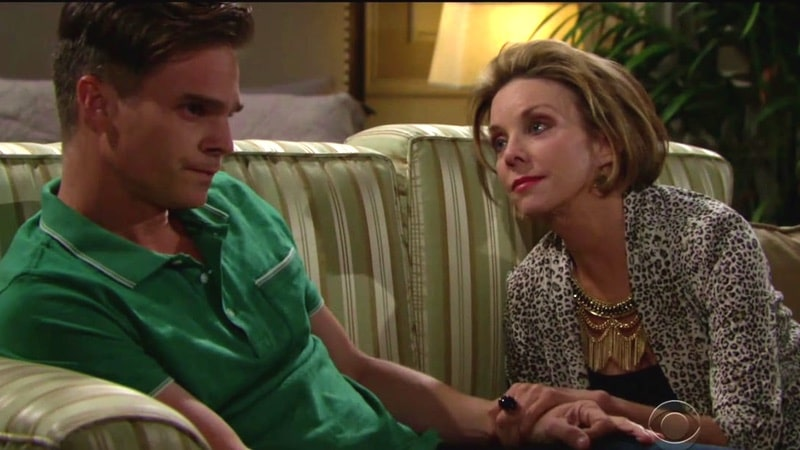 Judith Chapman as Leo's mom on Days of our Lives.