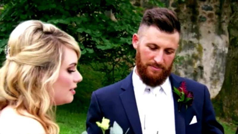 Kate Sisk and Luke Cuccurullo on their wedding day