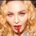 Madonna sucks a straw in an Instagram photo