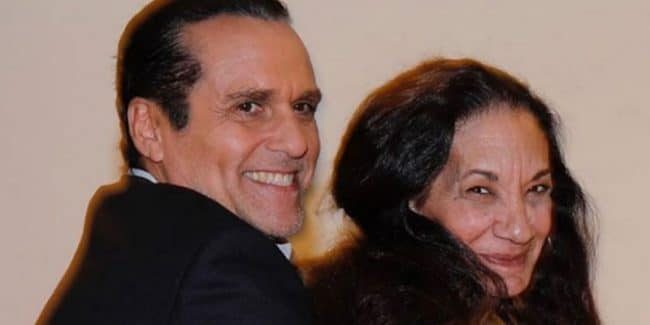 Maurice Benard and Donna Messina messing around