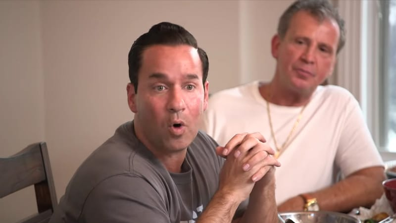 Mike Sorrentino and Uncle Vinny during a Jersey Shore special