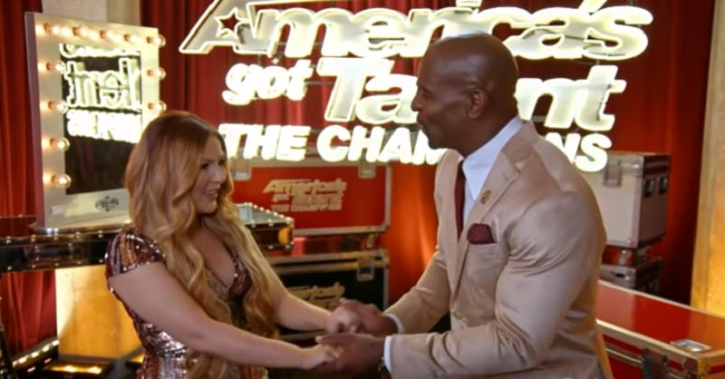 Bianca Ryan and AGT: The Champions host Terry Crews