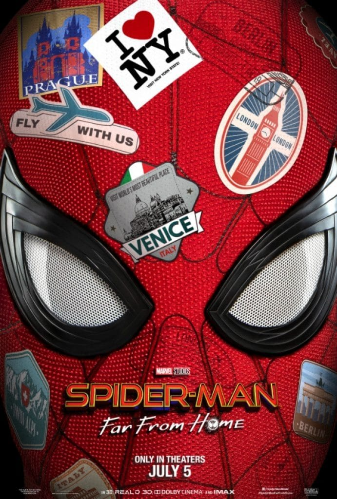 Movie poster for Spider-Man: Far From Home. Pic credit: Sony Pictures