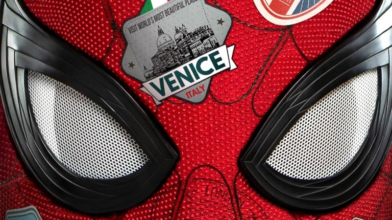 Cropped image from the Spider-Man: Far From Home movie poster.