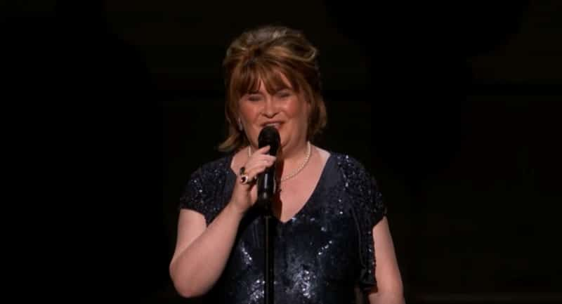 Susan Boyle performs on America's Got Talent: The Champions