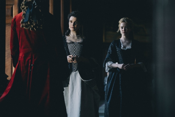 Rachel Weisz and Emma Stone in The Favourite.