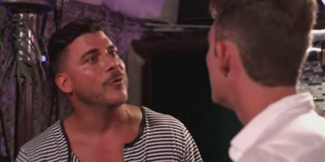 Jax Taylor and James Kennedy going at it on Vanderpump Rules