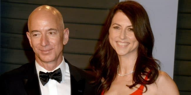 Jeff Bezos and his wife MacKenzie, who are getting divorced. Pic: ©ImageCollect.com/Dennis Van Tine
