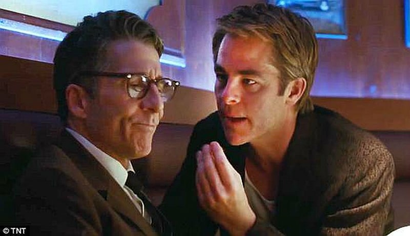Leland Orser and Chris Pine in I Am The Night