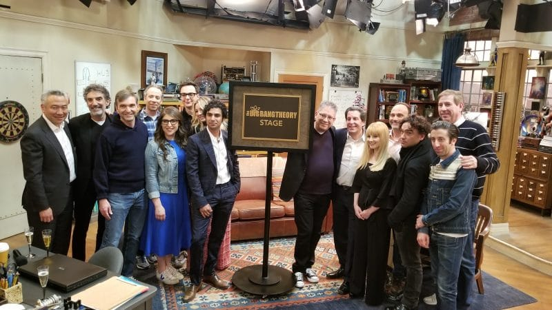 The Big Bang Theory stage dedication ceremony