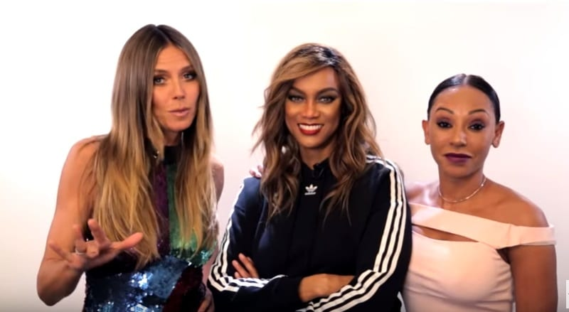 Heidi Klum, Tyra Banks, and Mel B working on America's Got Talent