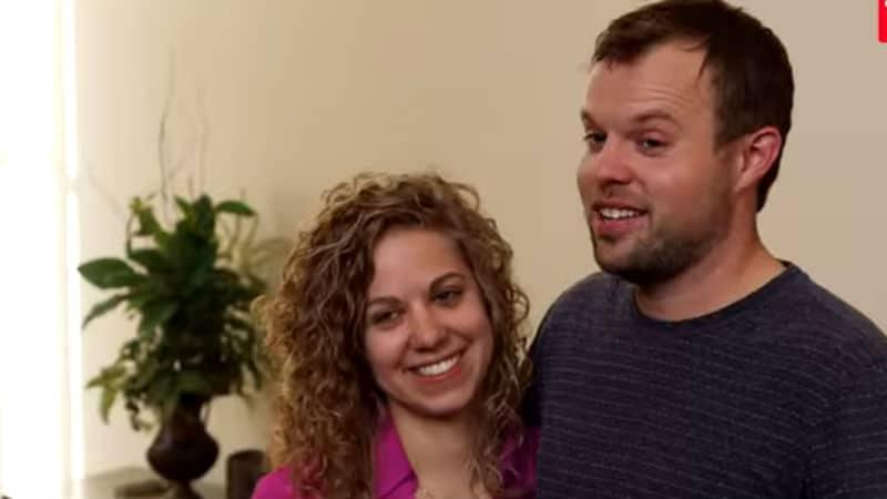 Abbie Grace Burnett and her husband, John David Duggar