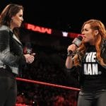 Becky Lynch and Stephanie McMahon in the WWE