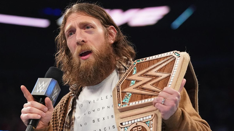 Daniel Bryan with his new WWE title