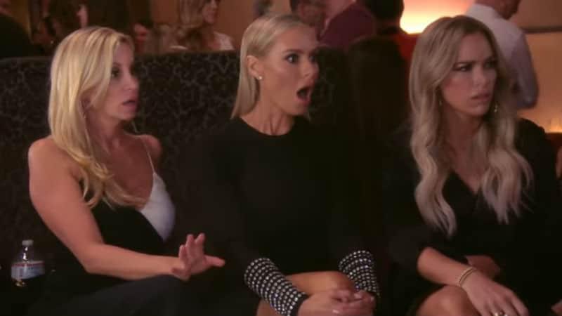 Dorit Kemsley with Teddi Mellencamp and Erika Jayne in the RHOBH trailer